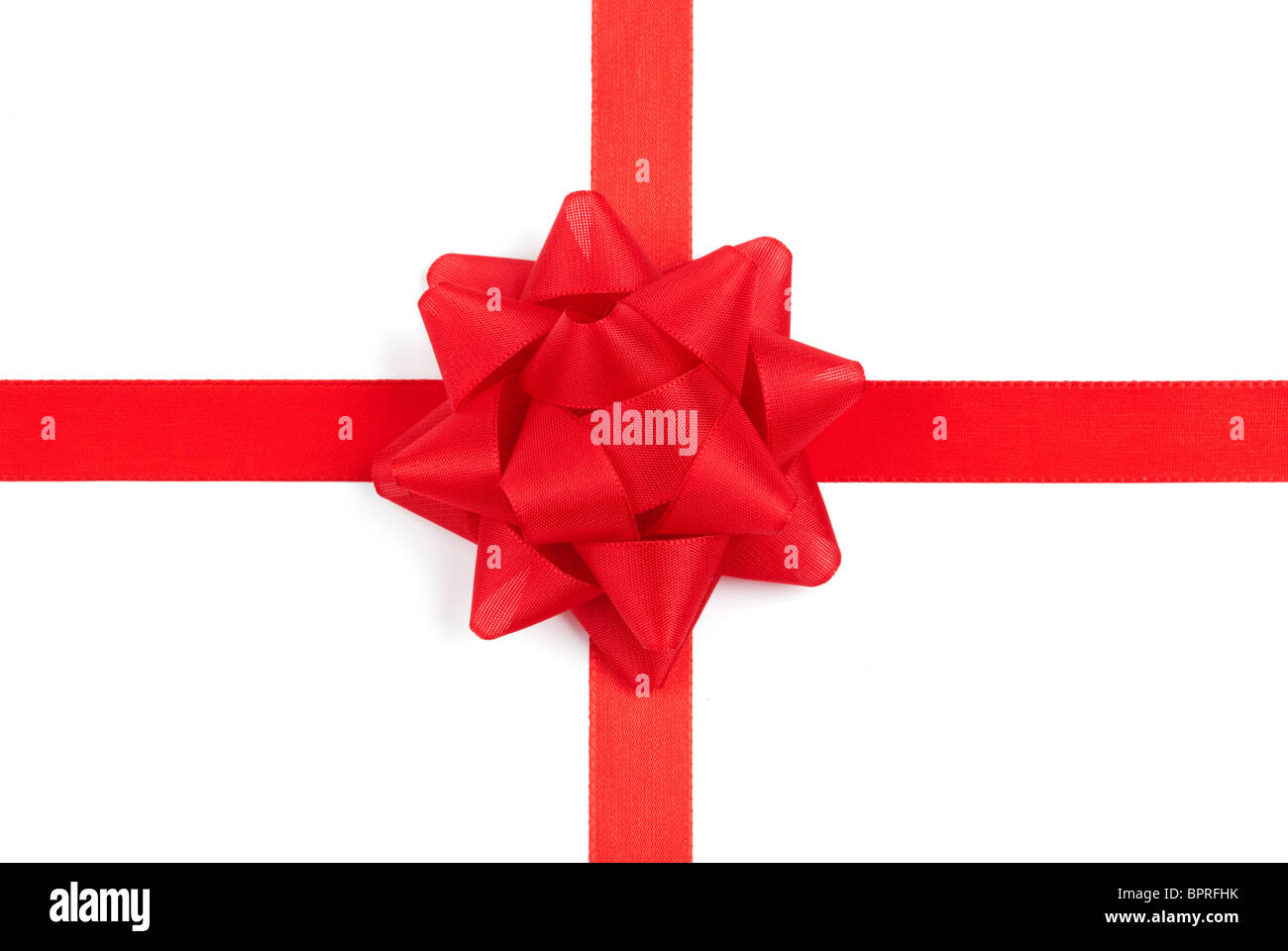 big red bow on  white background Stock Photo