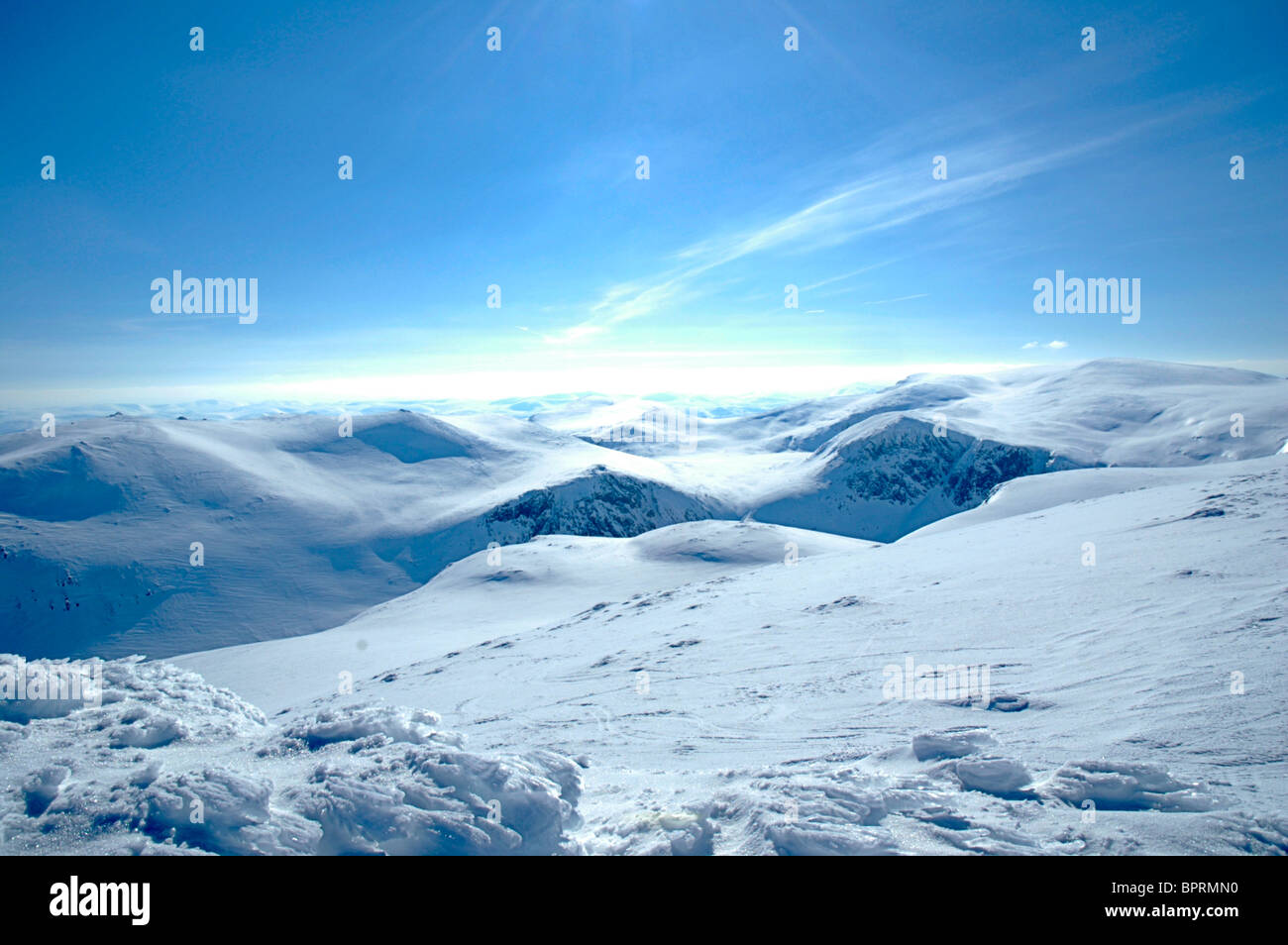 The Cairngorm Mountains in winter - Stock Image