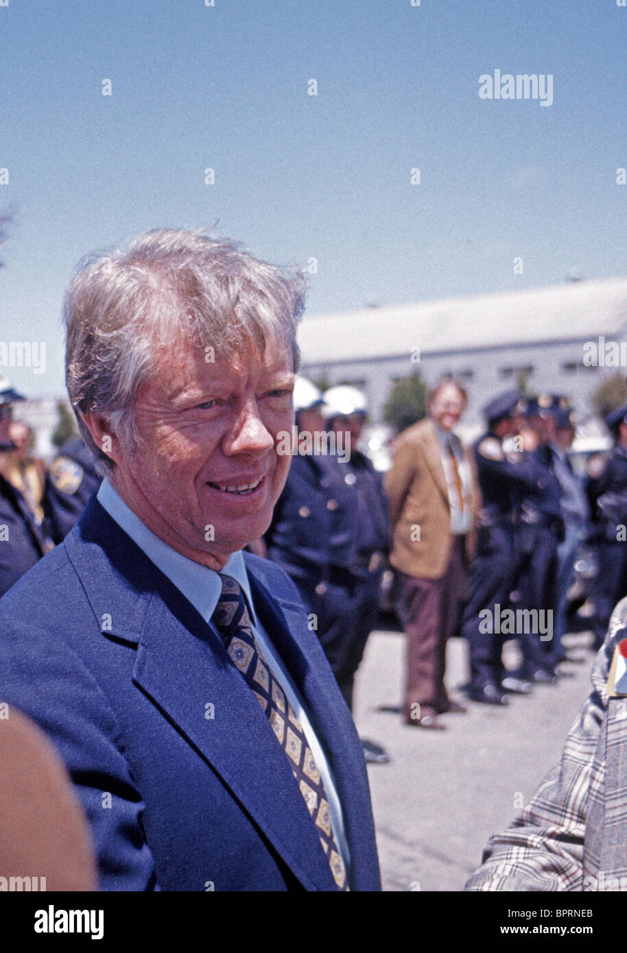 Democratic Presidential candidate, Jimmy Carter, campaigns in San Francisco California, USA, 1976 - Stock Image