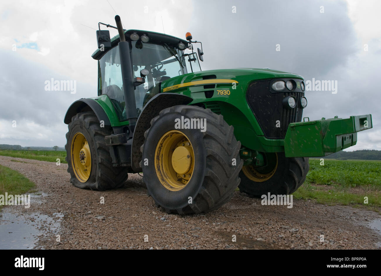 John Deere Tractor Tyre : John deere tractor uk stock photos