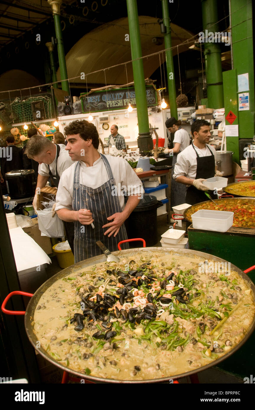 Thai curry dish on sale at stall in Borough Market Southwark London England - Stock Image