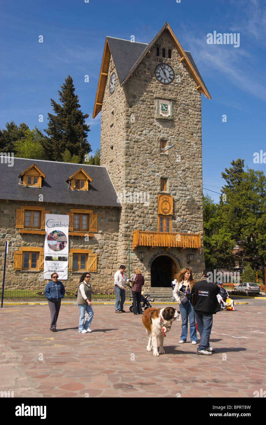 Elk199-1011v Argentina, Bariloche, Civic Center and Town Hall - Stock Image