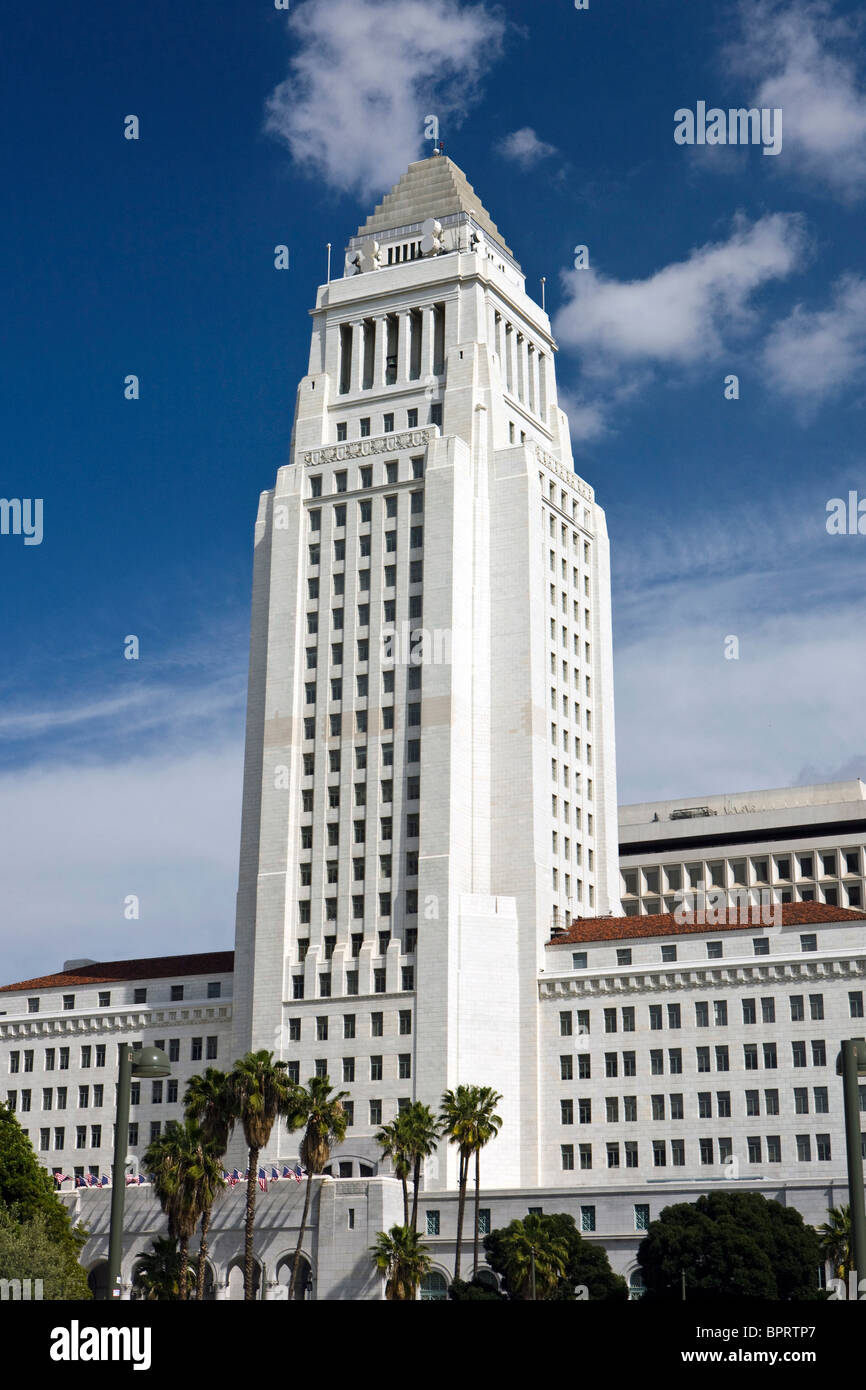 Los Angeles City Hall, downtown Los Angeles, California, United States of America. - Stock Image