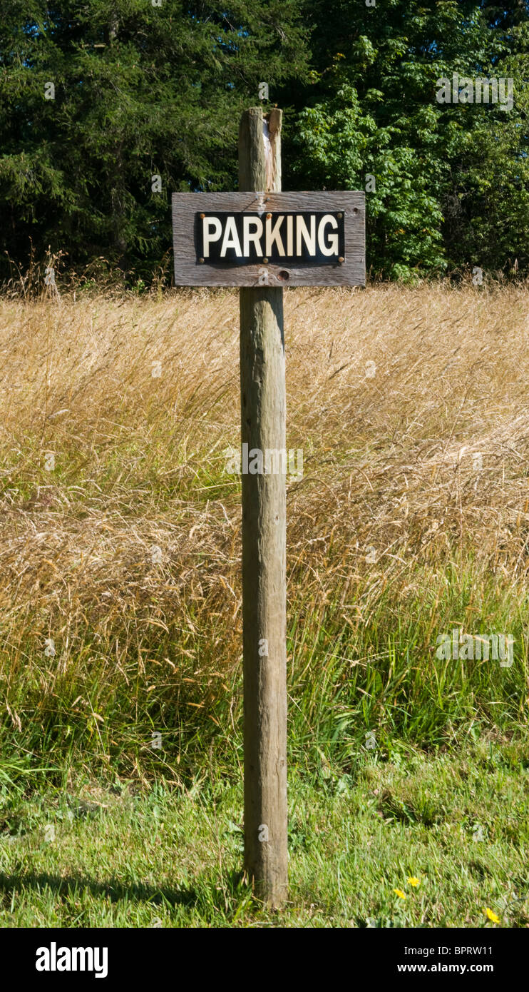 Parking Sign - Stock Image