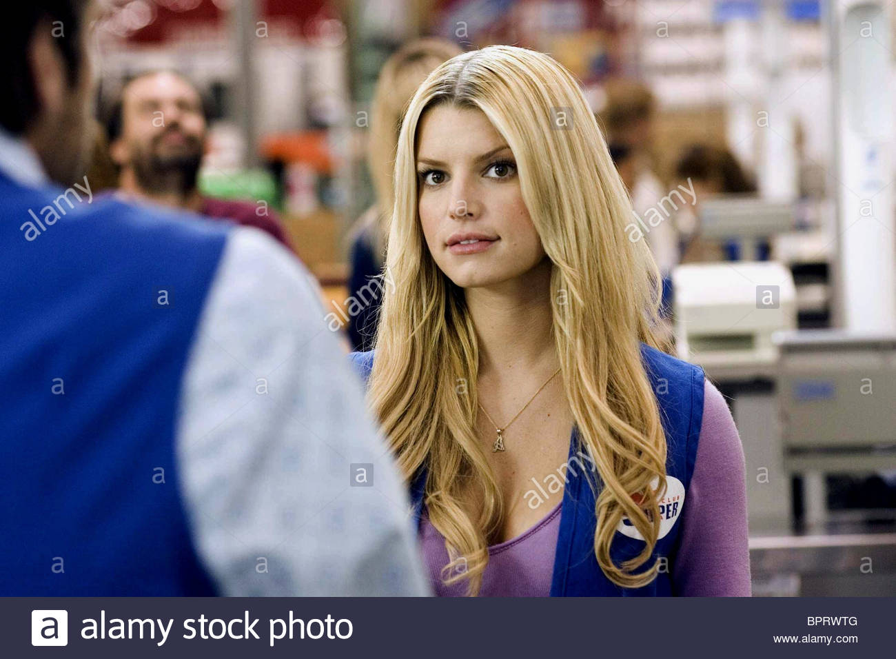 jessica simpson employee of the month 2006 stock photo 31257984