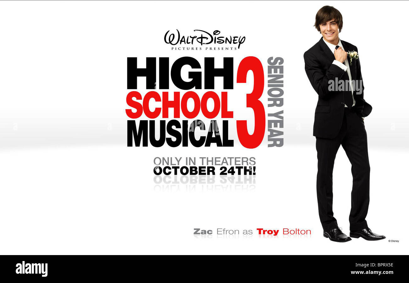 ZAC EFRON POSTER HIGH SCHOOL MUSICAL (2006) - Stock Image