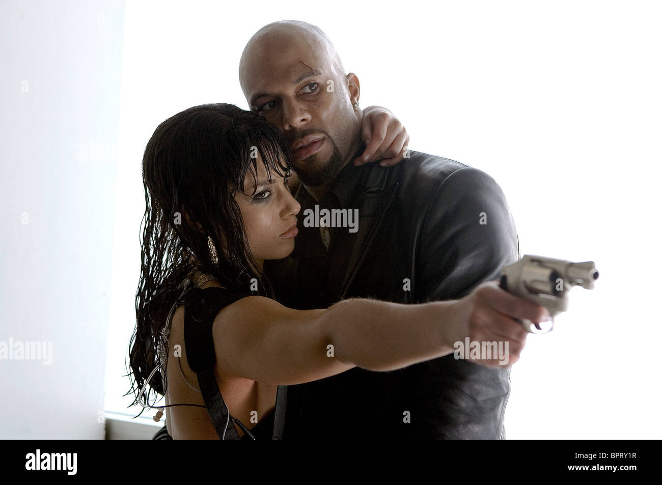 ALICIA KEYS & COMMON SMOKIN' ACES; SMOKING ACES (2006) - Stock Image