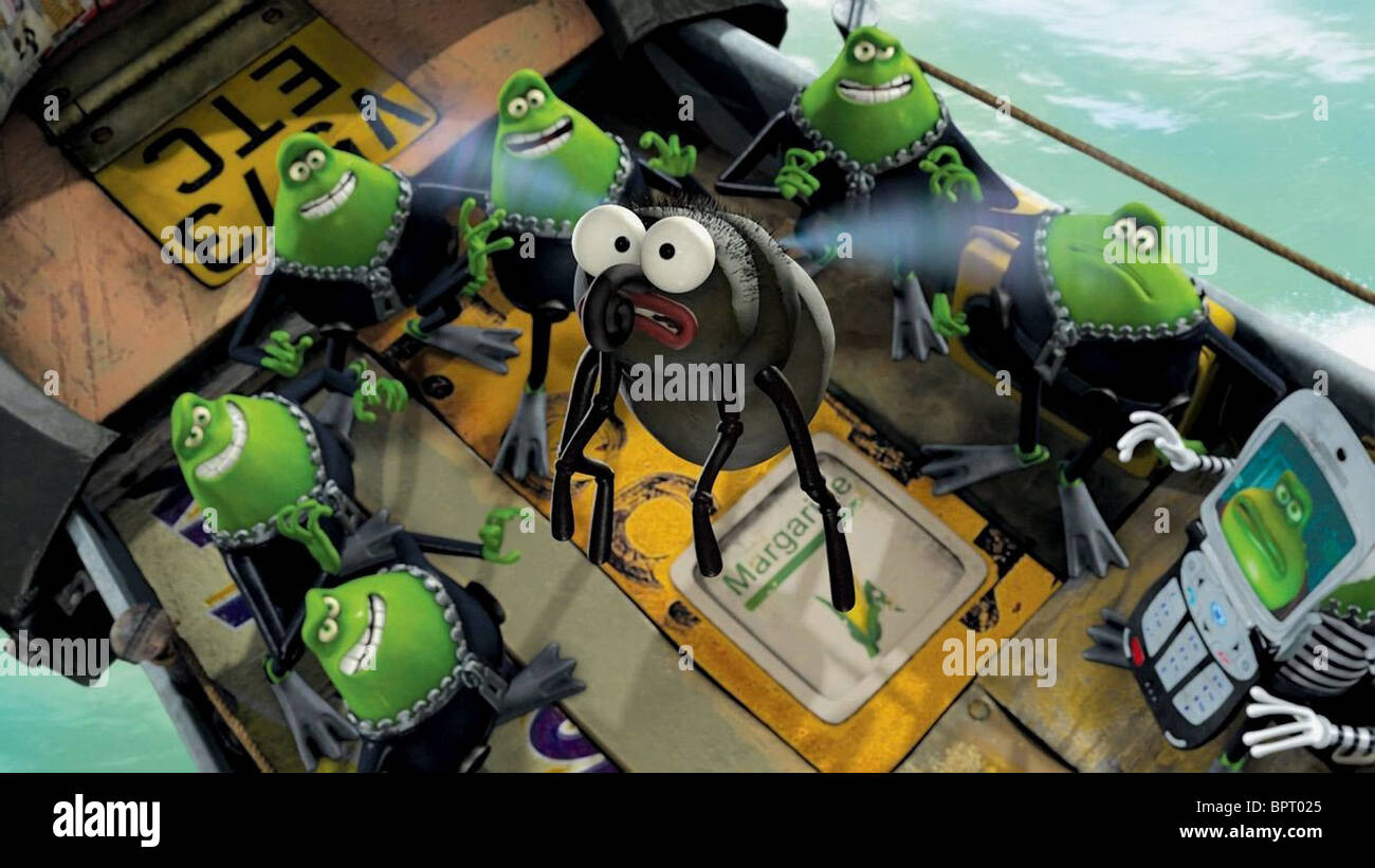 FLY & TOADS FLUSHED AWAY (2006) - Stock Image