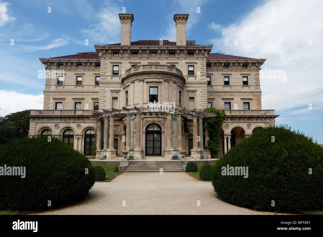 View of The Breakers Mansion from the side, Rhode Island - Stock Image