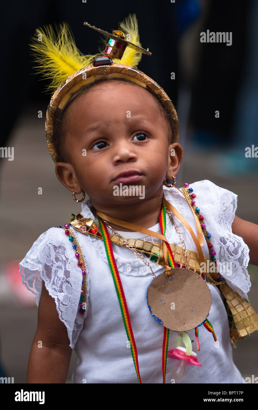 Notting hill Carnival baby. London. England - Stock Image