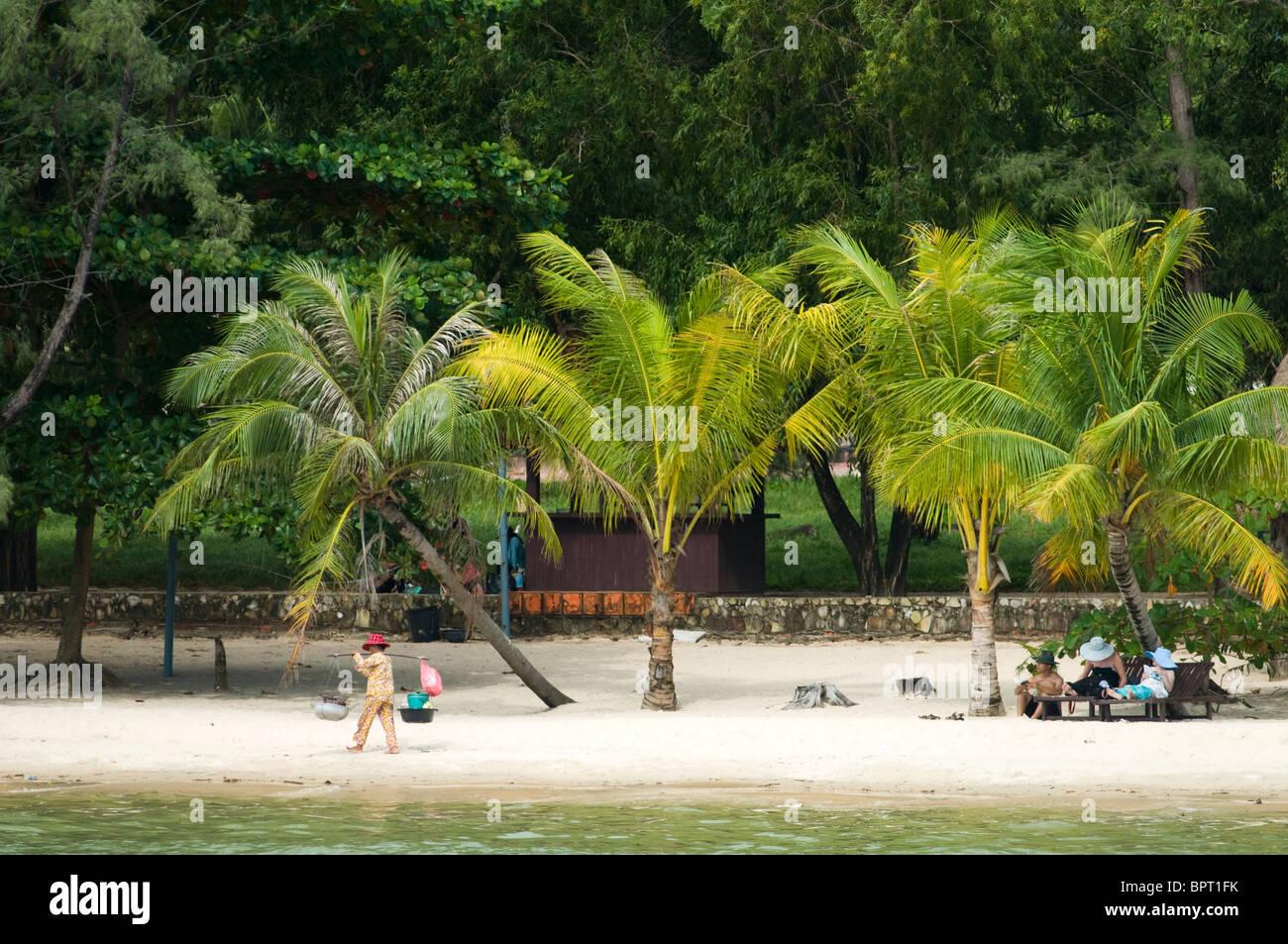 Victory Beach scene, Sihanoukville, Cambodia - Stock Image