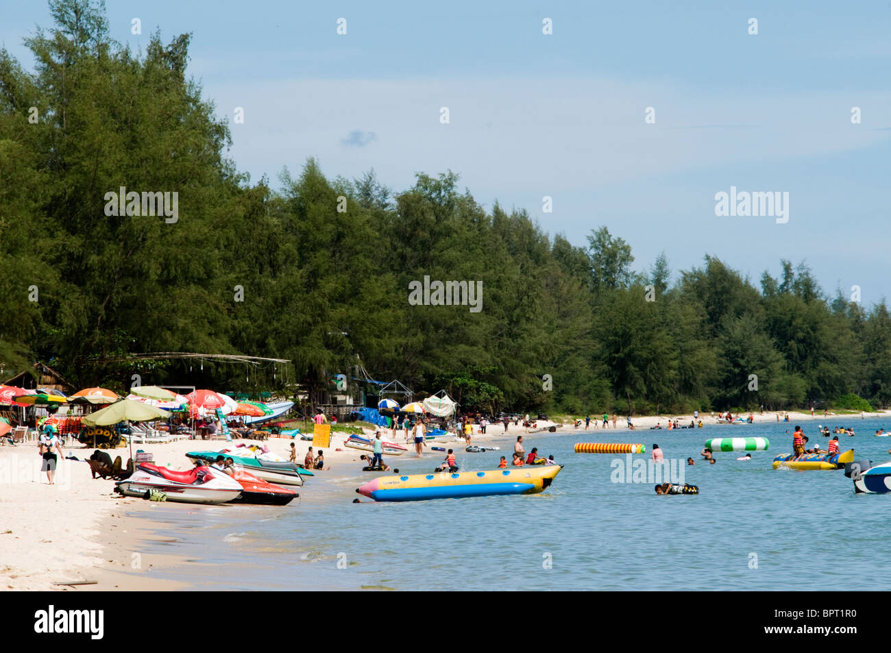 Ocheateal Beach, Sihanoukville, Cambodia Stock Photo
