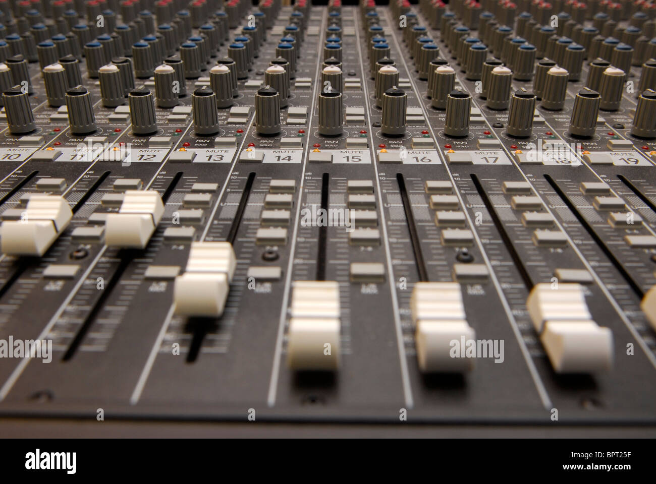 Sound mixing suite at a music resource centre, Sherbourne, Dorset. - Stock Image