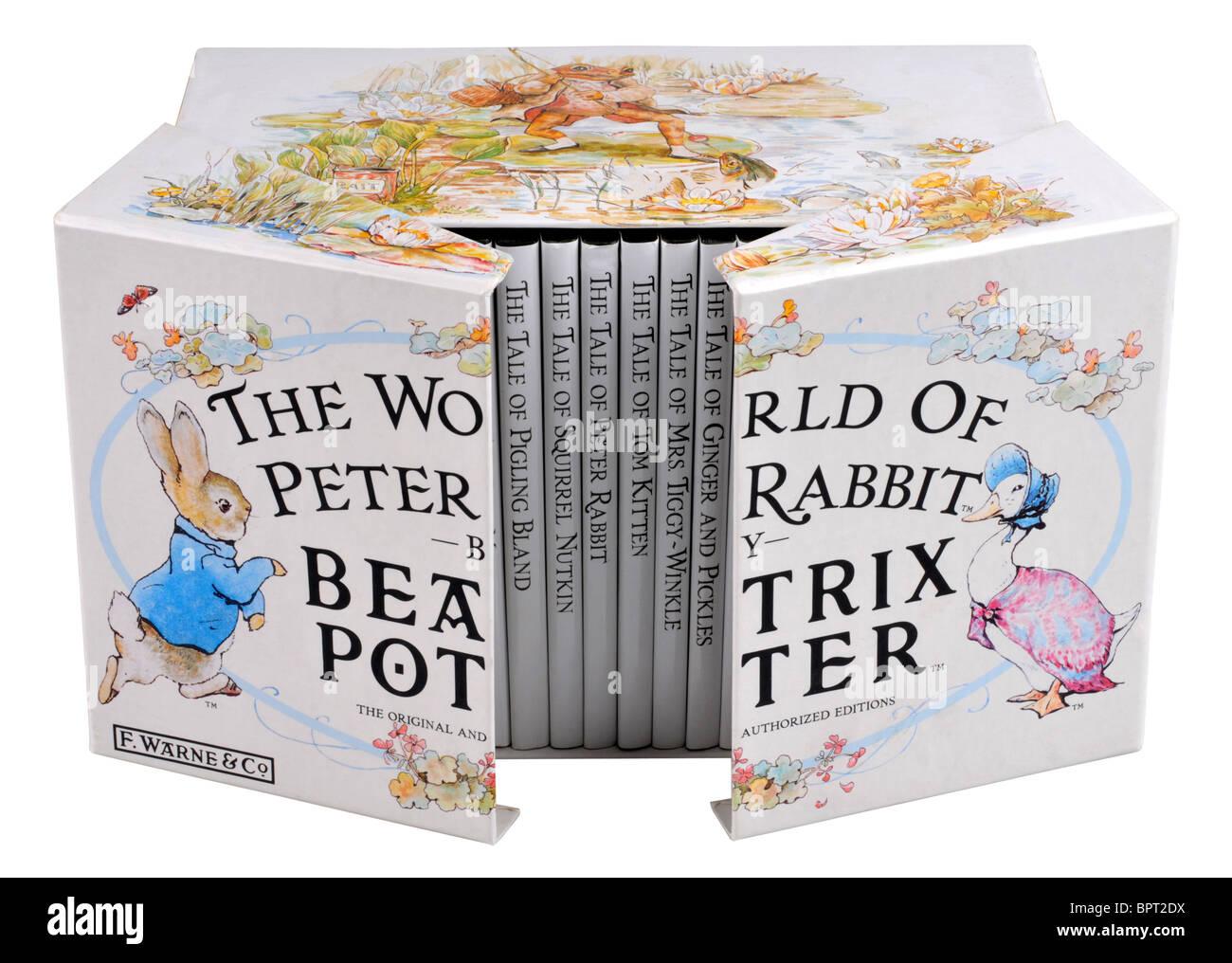 The World of Peter Rabbit box set by Beatrix Potter - Stock Image