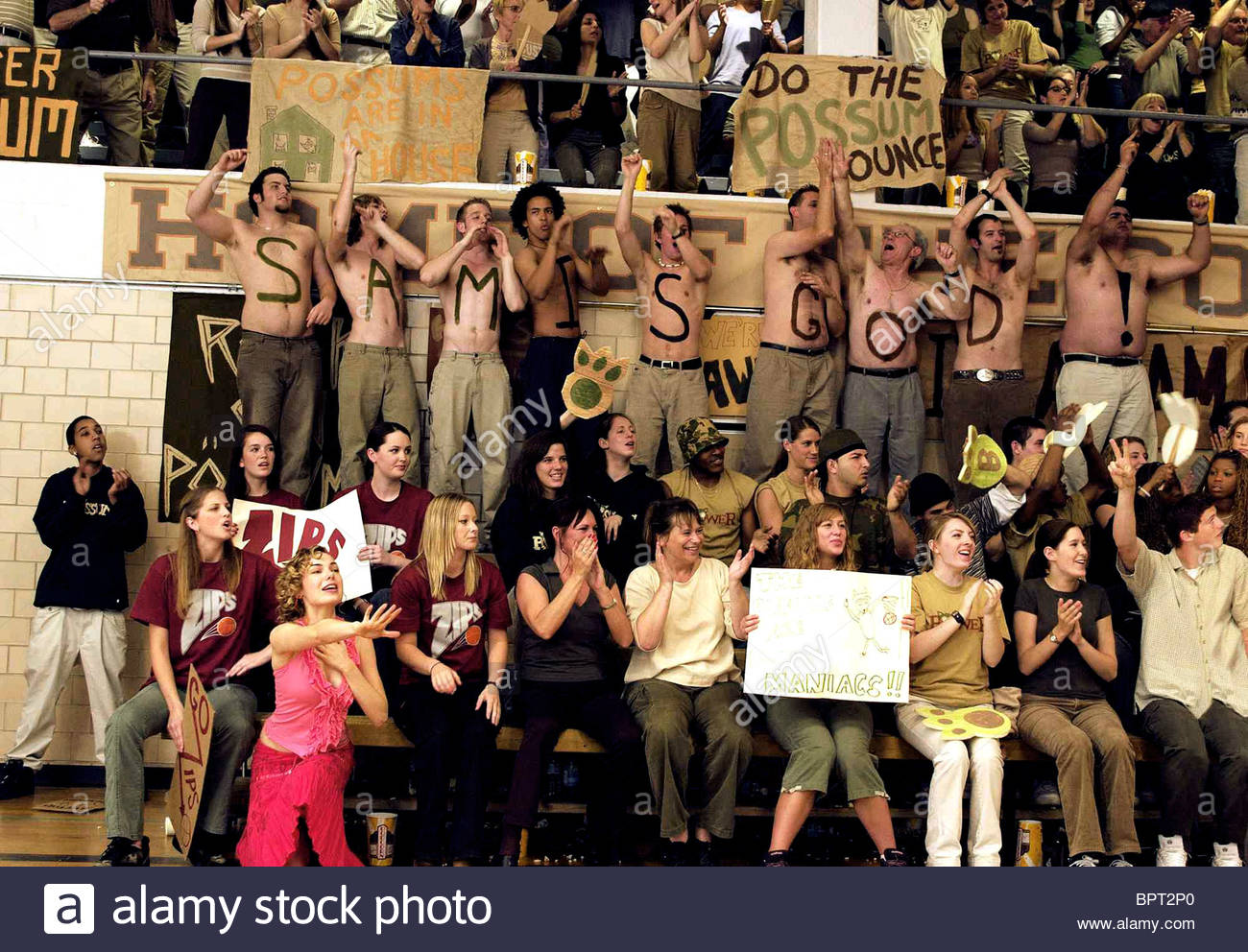 BASKETBALL FANS FULL OF IT (2007) - Stock Image
