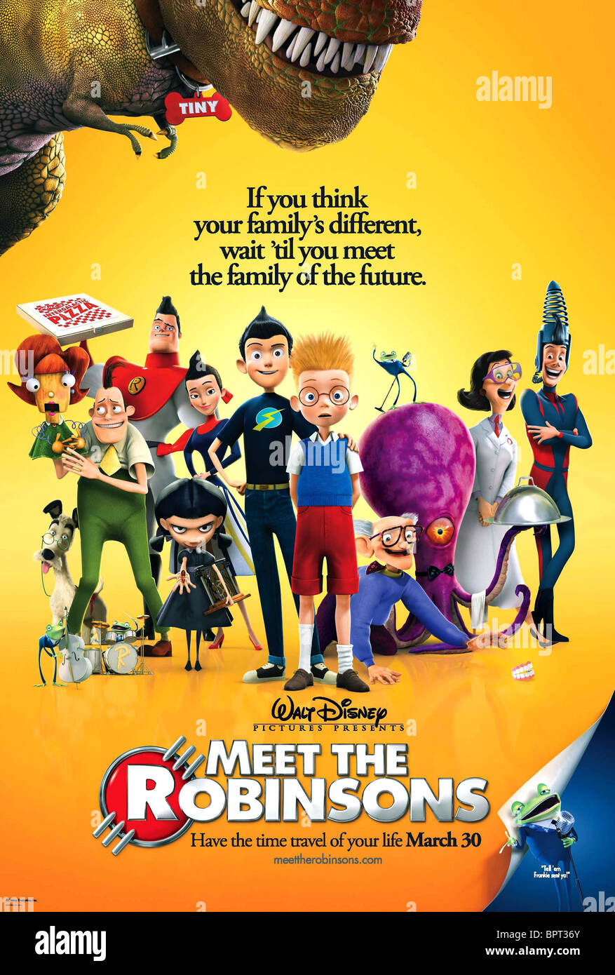 MOVIE POSTER MEET THE ROBINSONS (2007) - Stock Image
