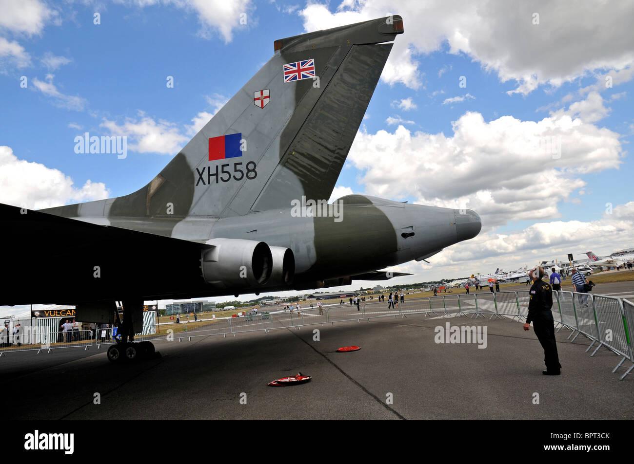 Avro Vulcan bomber, Vulcan delta wing warplane - Stock Image