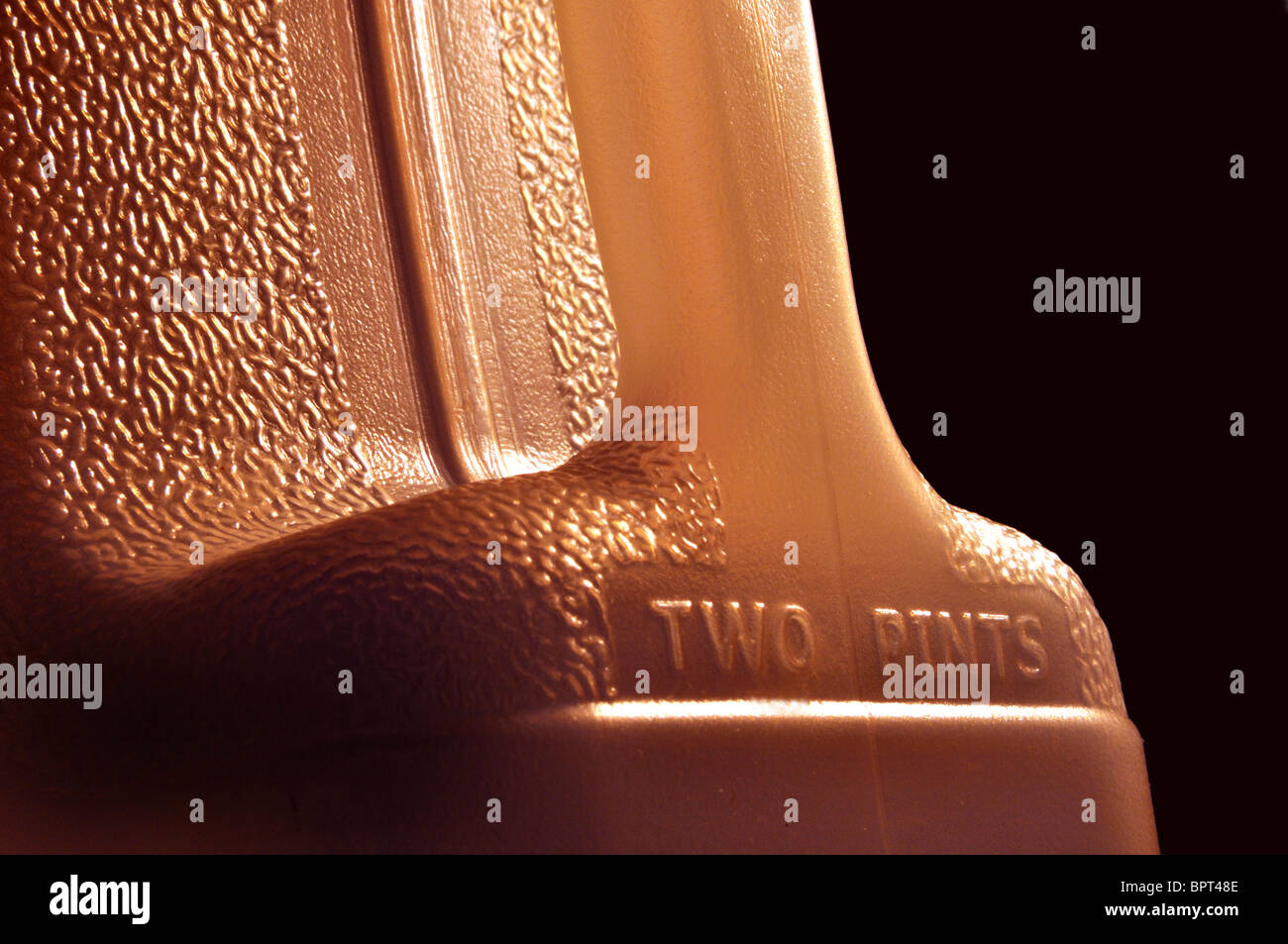 Close up detail of a food container - Stock Image