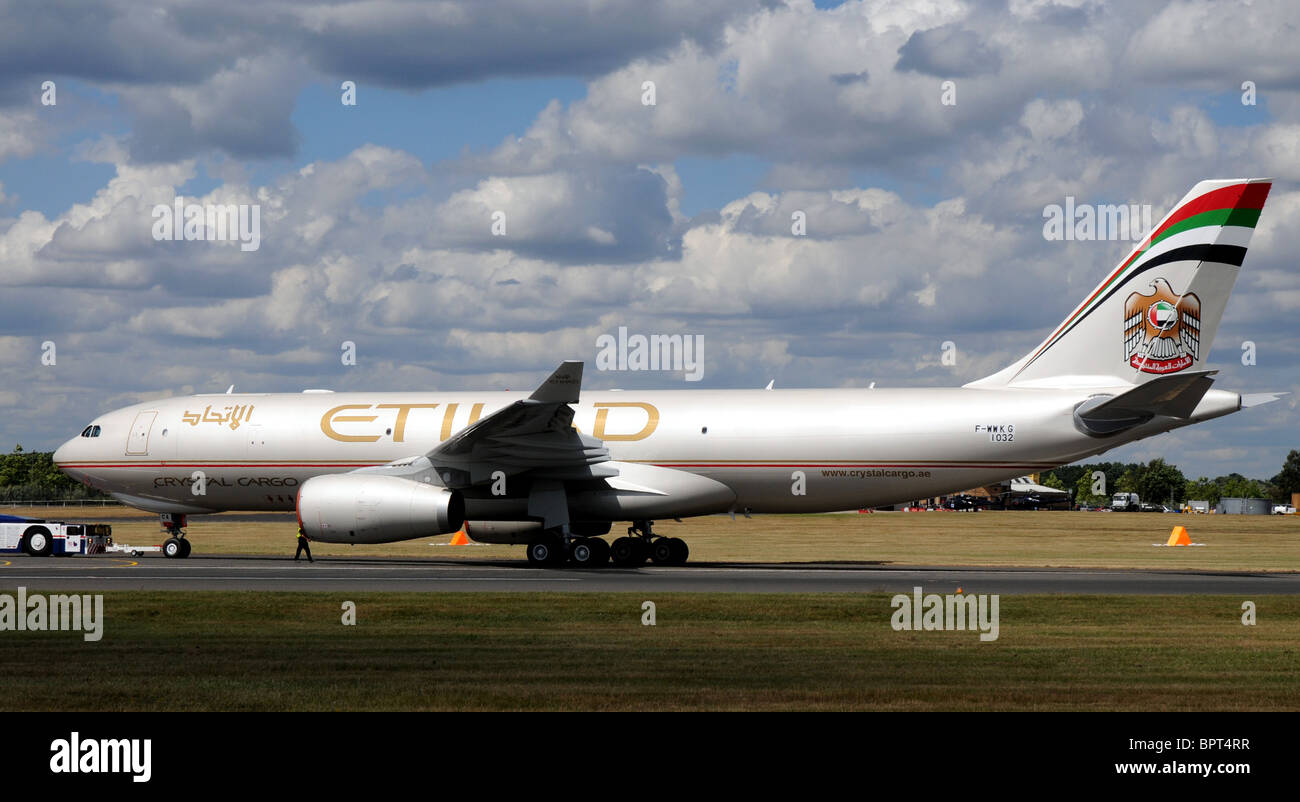 Etihad Crystal Cargo Airbus A330-243F - Stock Image