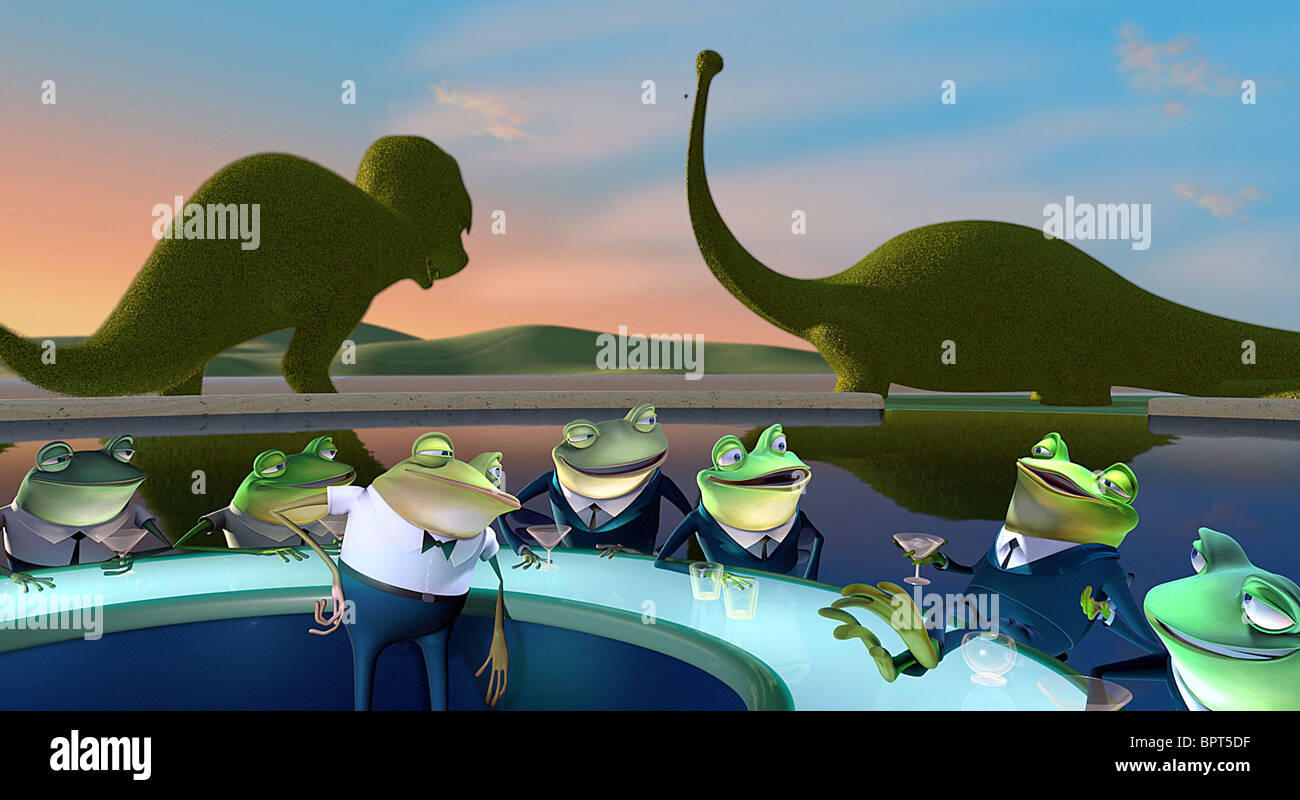 FRANKIE THE FROG MEET THE ROBINSONS (2007) - Stock Image