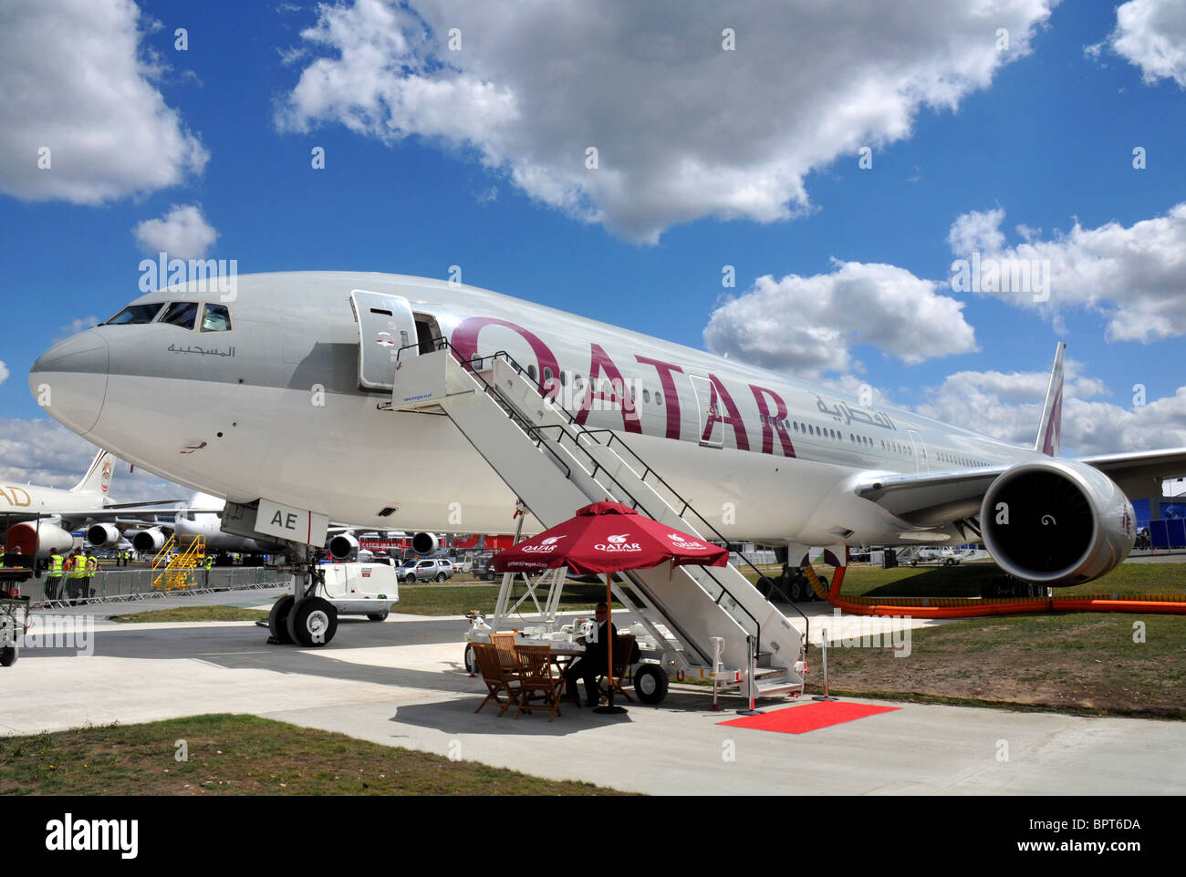 Qatar Airways Boeing 777 - Stock Image