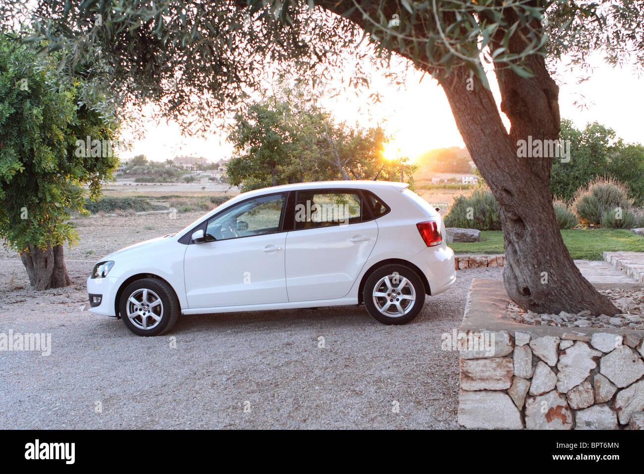 Mallorca holiday car rental rented car at rural villa Majorca Spain - Stock Image