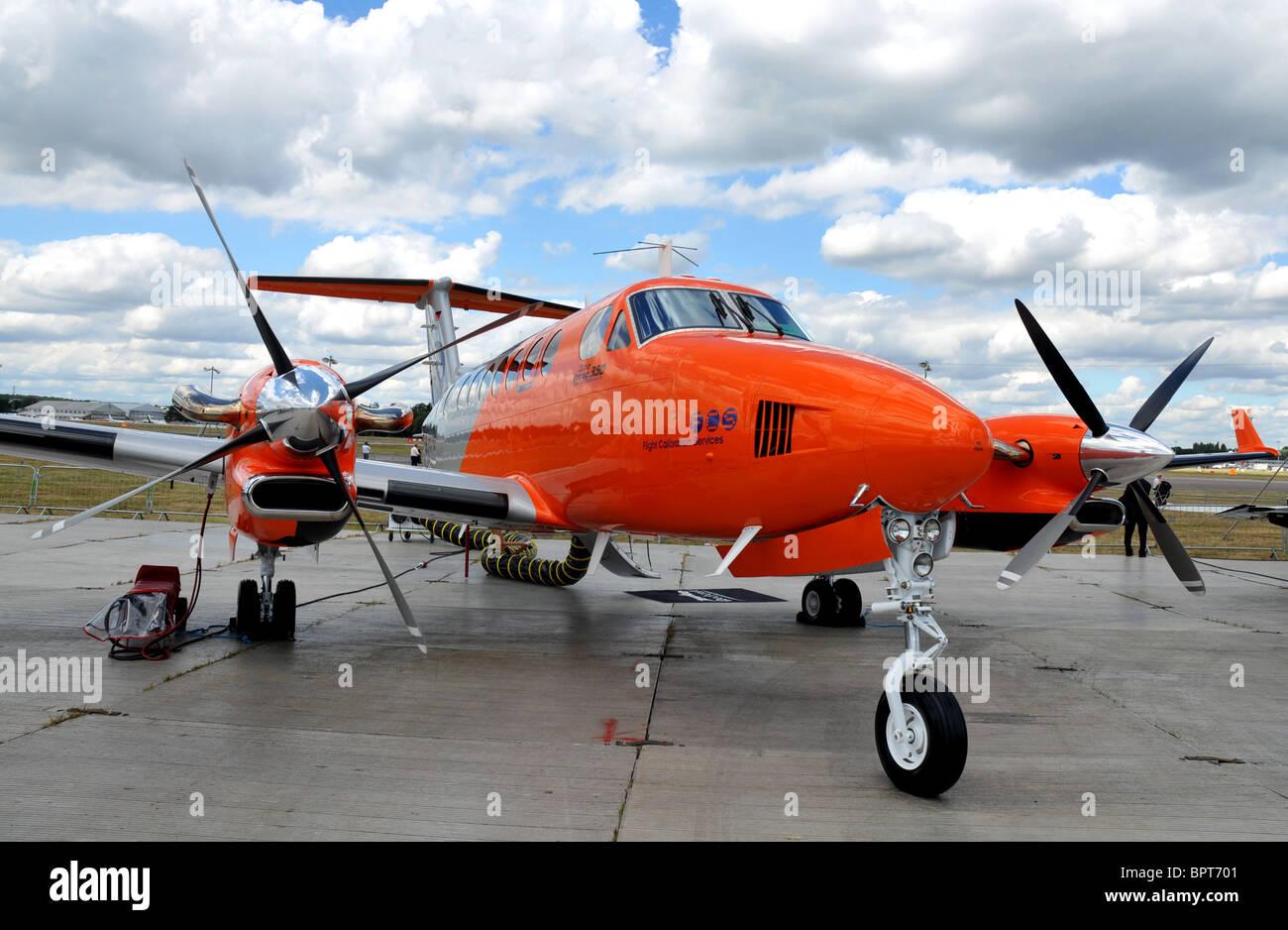 Beechcraft King Air, Super King Air 350 twin-turboprop aircraft - Stock Image