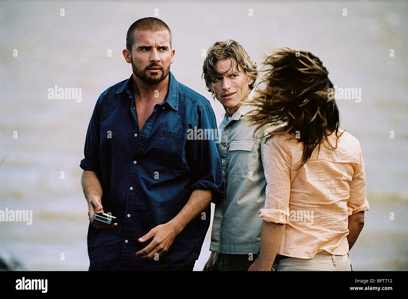 DOMINIC PURCELL GIDEON EMERY & BROOKE LANGTON PRIMEVAL (2007) - Stock Image