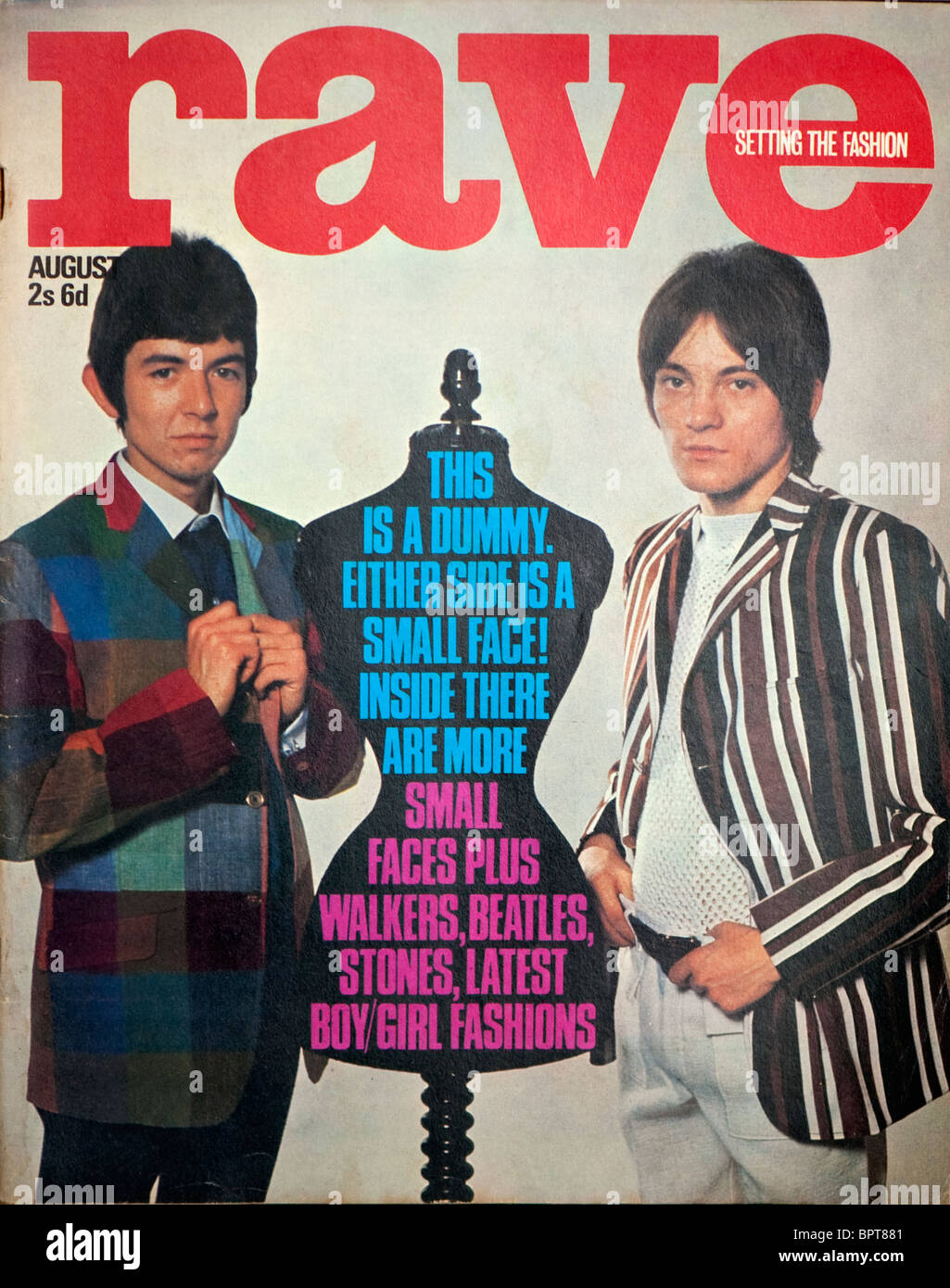 Cover of the Sixties magazine Rave with The Small Faces. - Stock Image