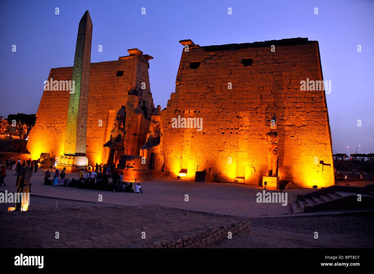 Luxor Temple, Egypt. - Stock Image
