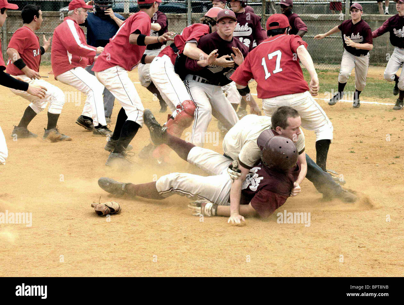 BASEBALL MATCH FIGHT SCENE BLACK IRISH (2007) - Stock Image