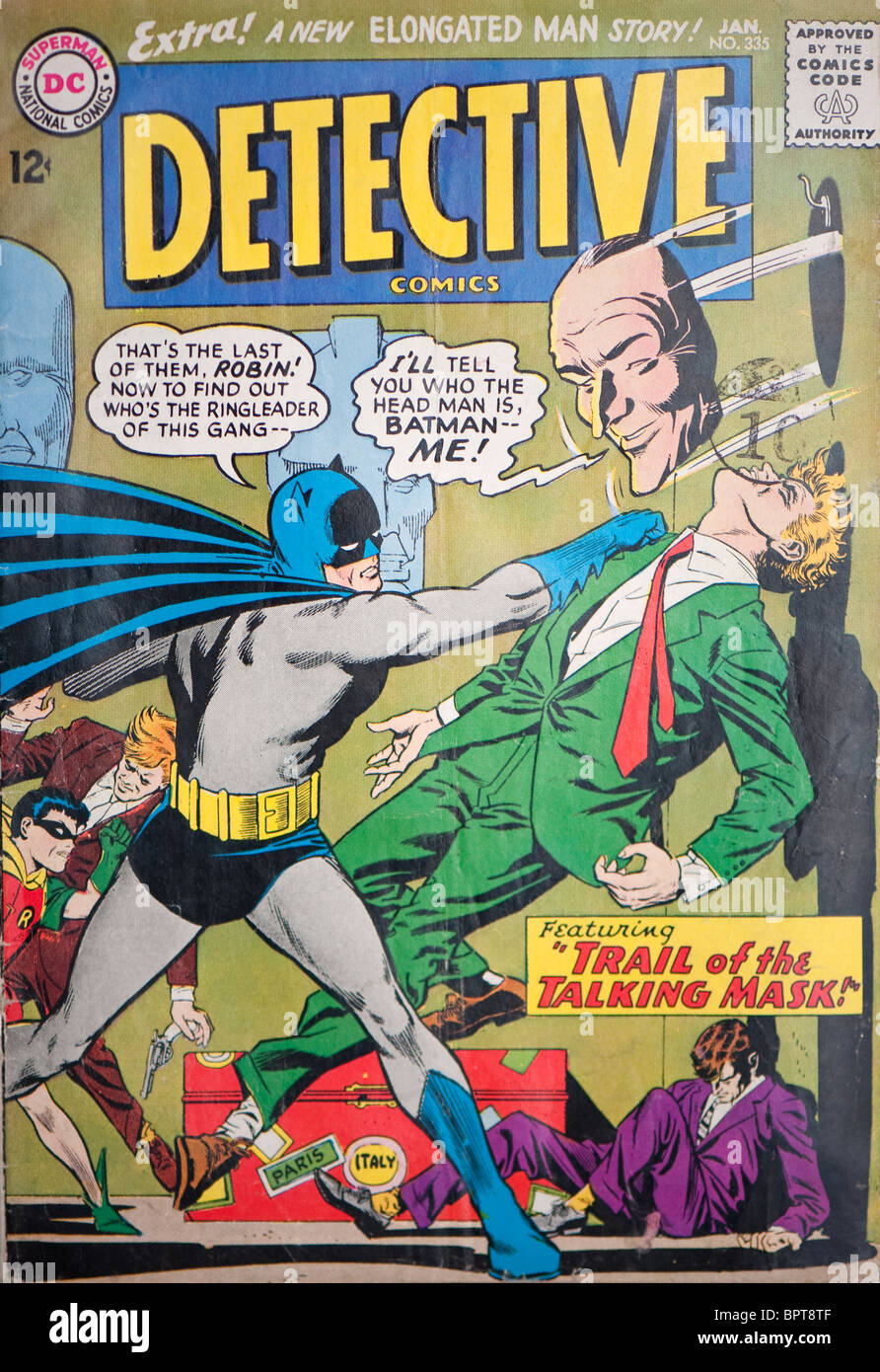 DC Detective Comic with Batman on the cover. - Stock Image