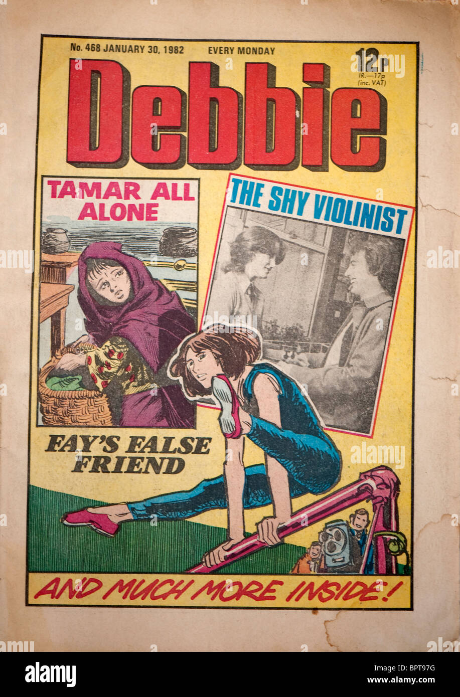 1982 edition cover of Debbie comic for girls. - Stock Image