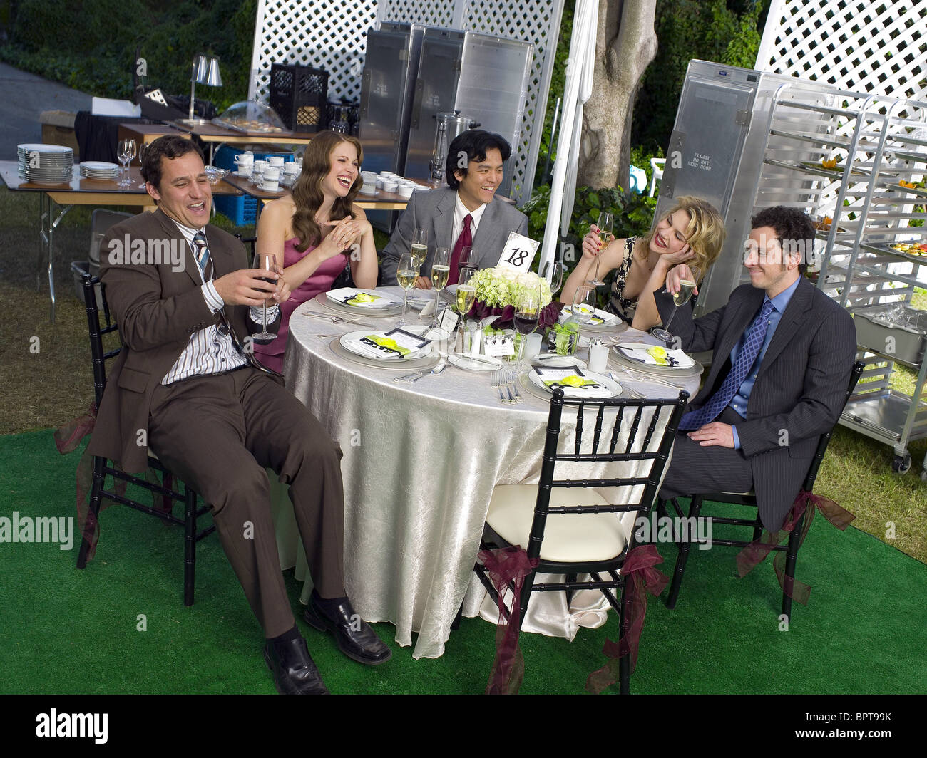 CONOR DUBIN PASCALE HUTTON JOHN CHO RHEA SEEHORN & JARRAD PAUL THE SINGLES TABLE (2007) - Stock Image