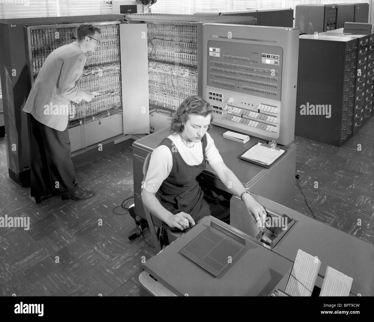 IBM Electronic Data Processing Machine introduced in 1954 - Stock Image