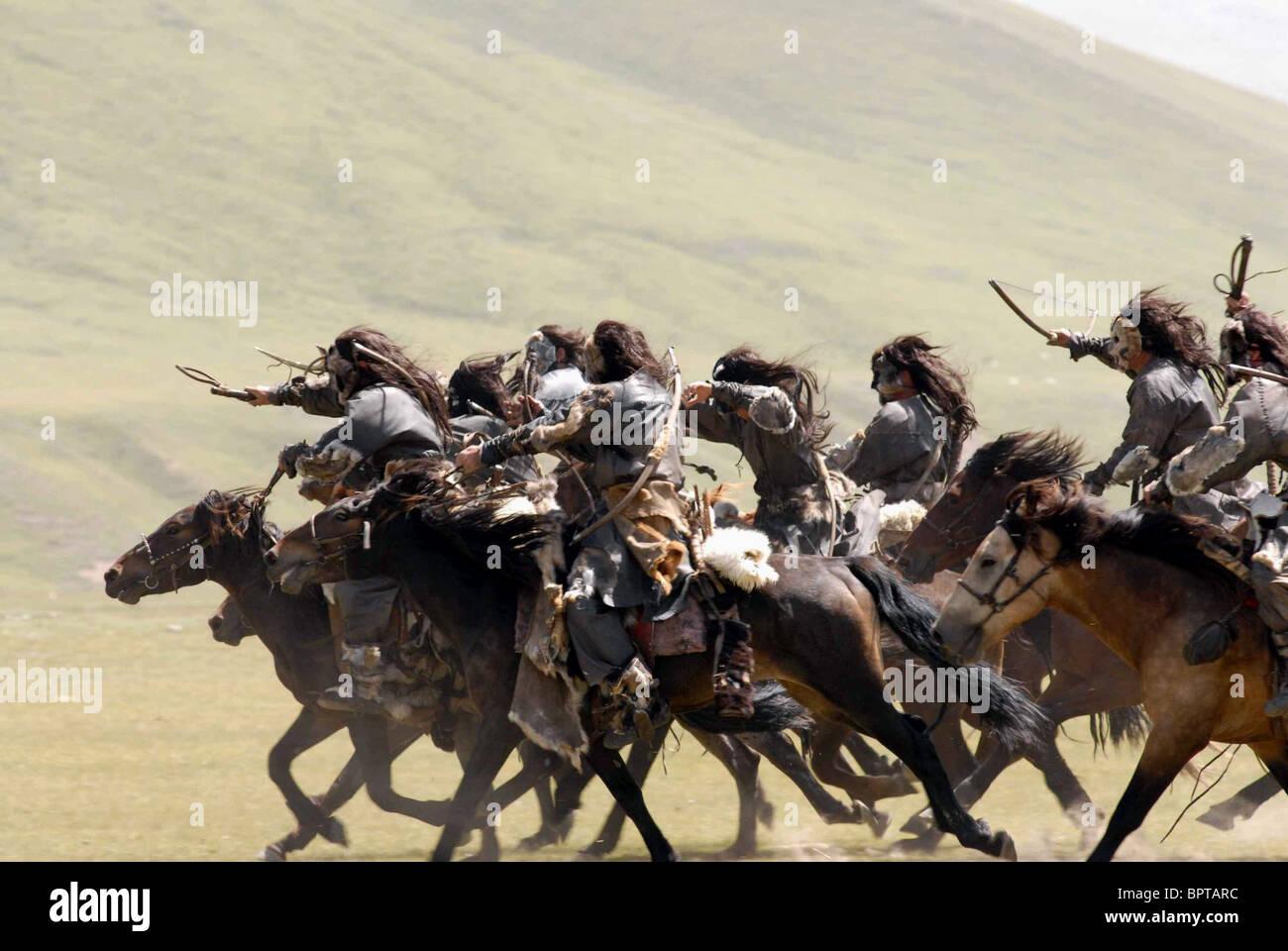 HORSEMEN CHARGE MONGOL (2007) Stock Photo