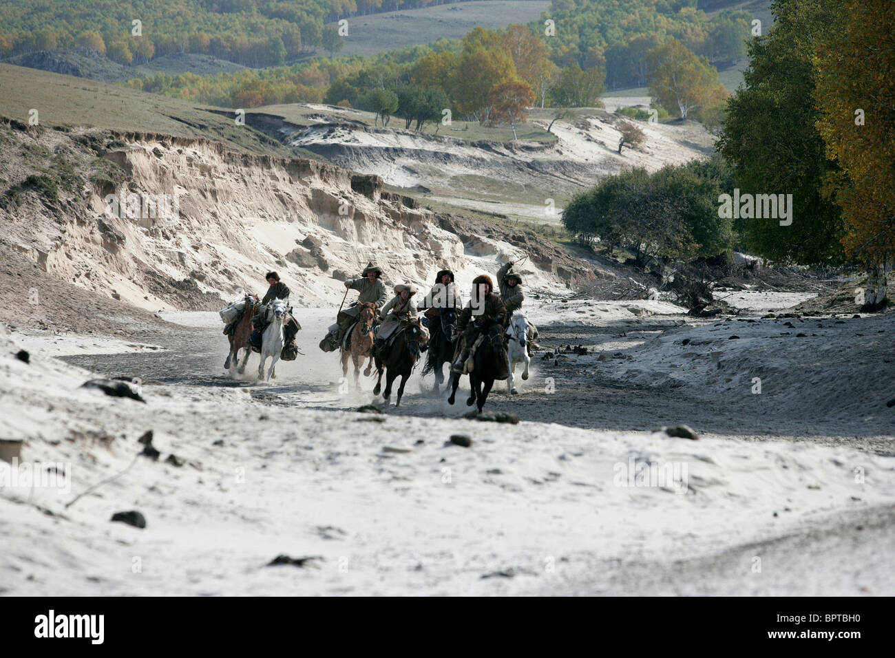 HORSEMEN MONGOL (2007) Stock Photo