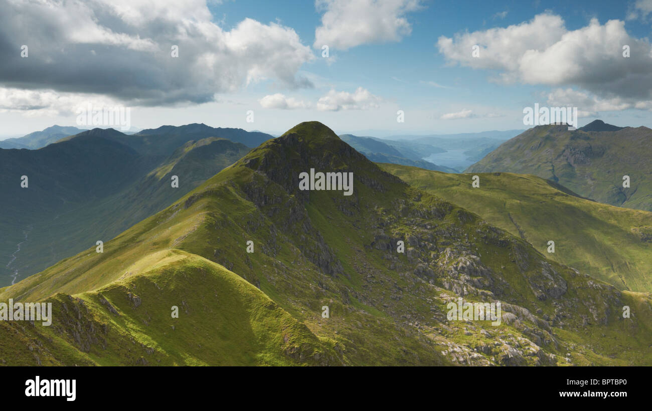 Looking onto the mountain Sgurr an Lochain and Loch Duich Scottish Highlands UK - Stock Image