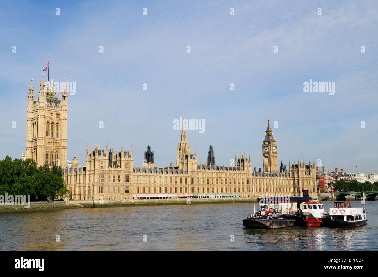 Houses of Parliament, Westminster, London, England, UK - Stock Image