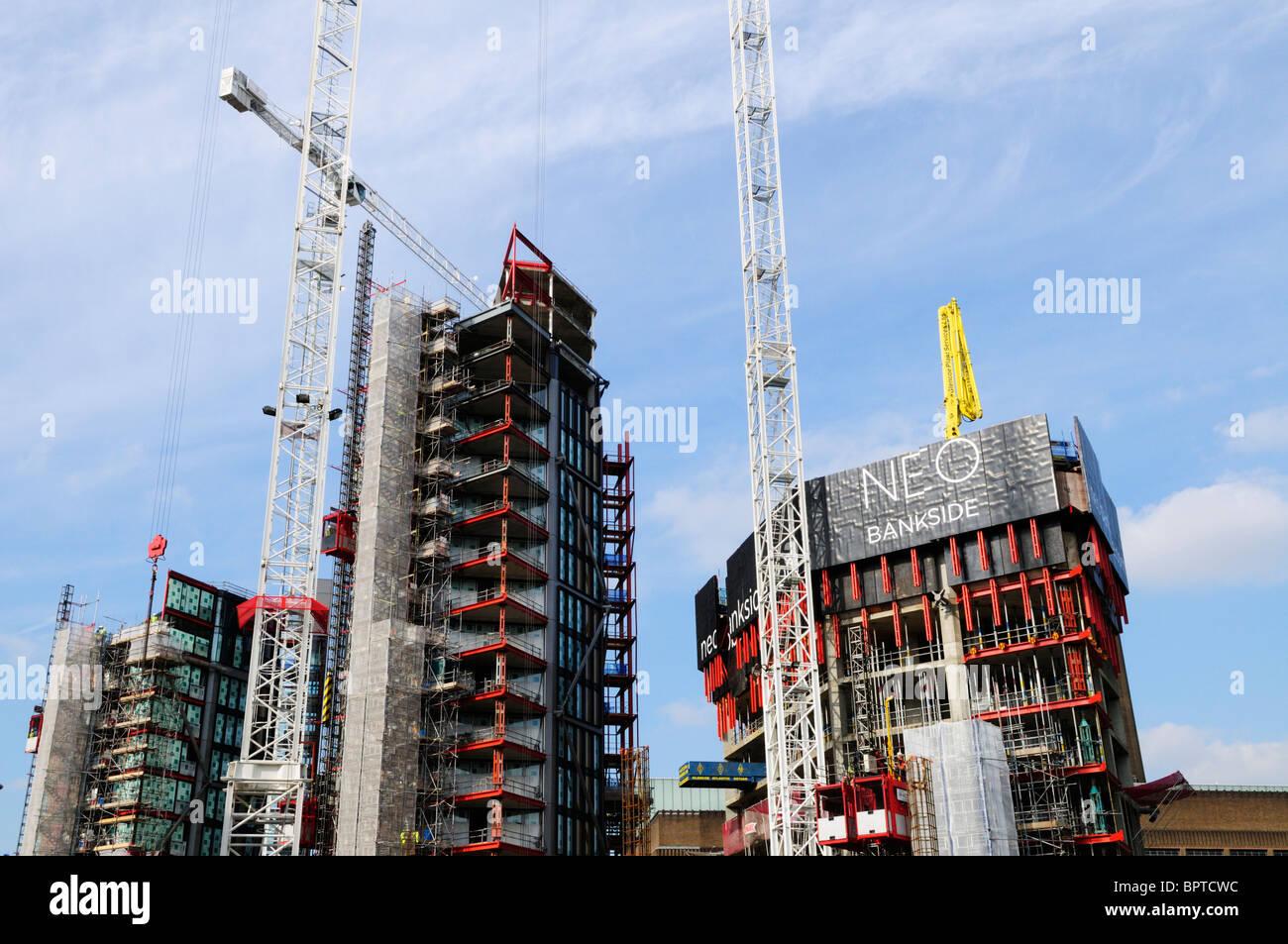 NEO Bankside building site, Southwark, London, England, UK - Stock Image