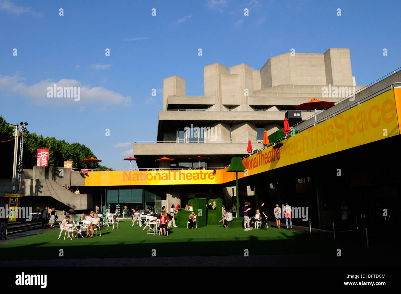 The National Theatre, South bank, London, England, UK - Stock Image