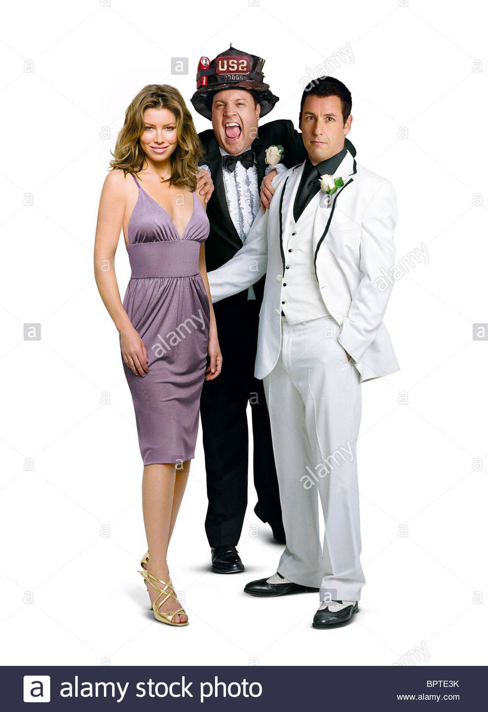 Jessica Biel Kevin James Adam Sandler I Now Pronounce You Chuck Stock Photo Alamy