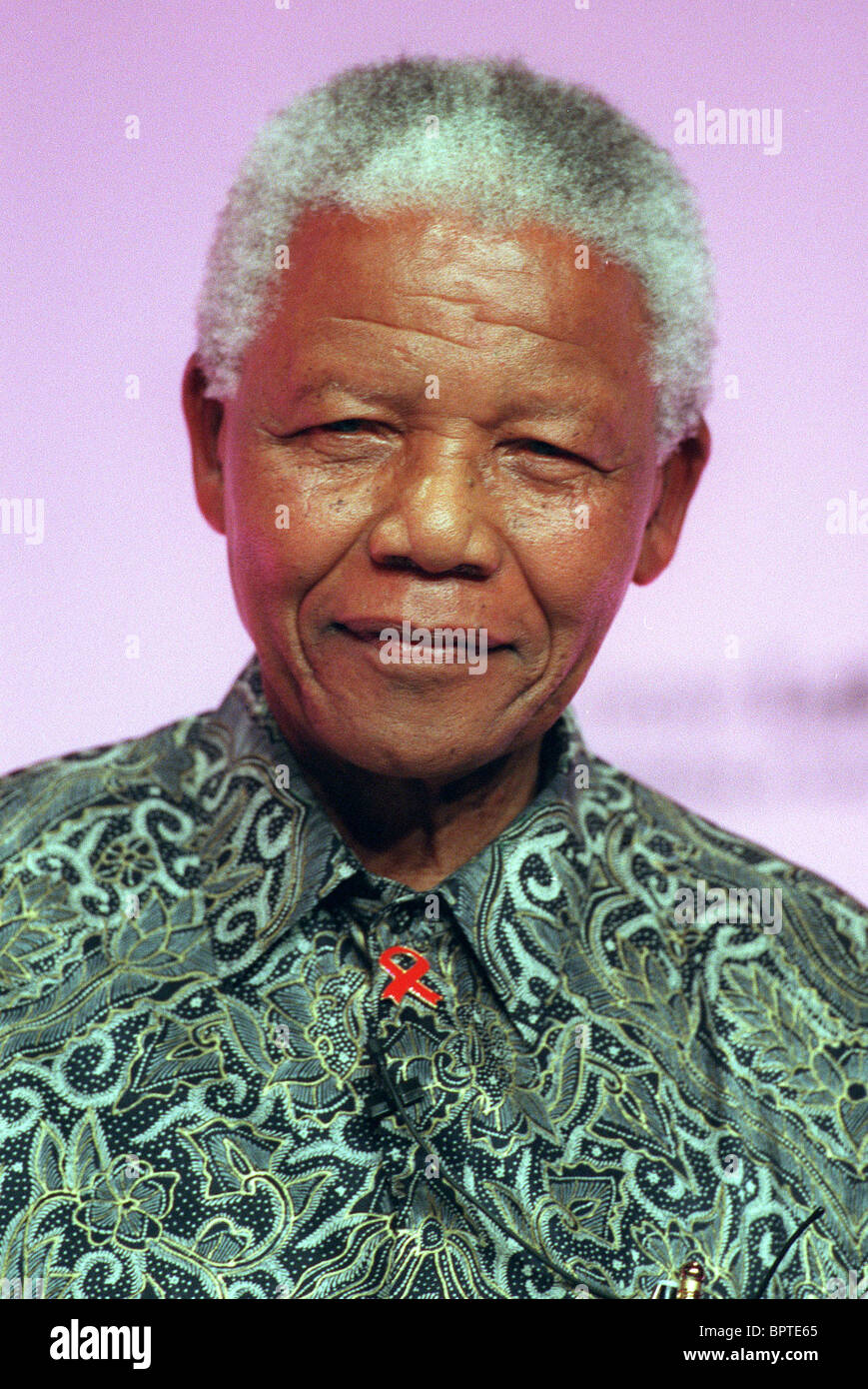 NELSON MANDELA FORMER PRES. OF SOUTH AFRICA 24 September 2000 BRIGHTON LABOUR PARTY CONFERENCE 2000 - Stock Image
