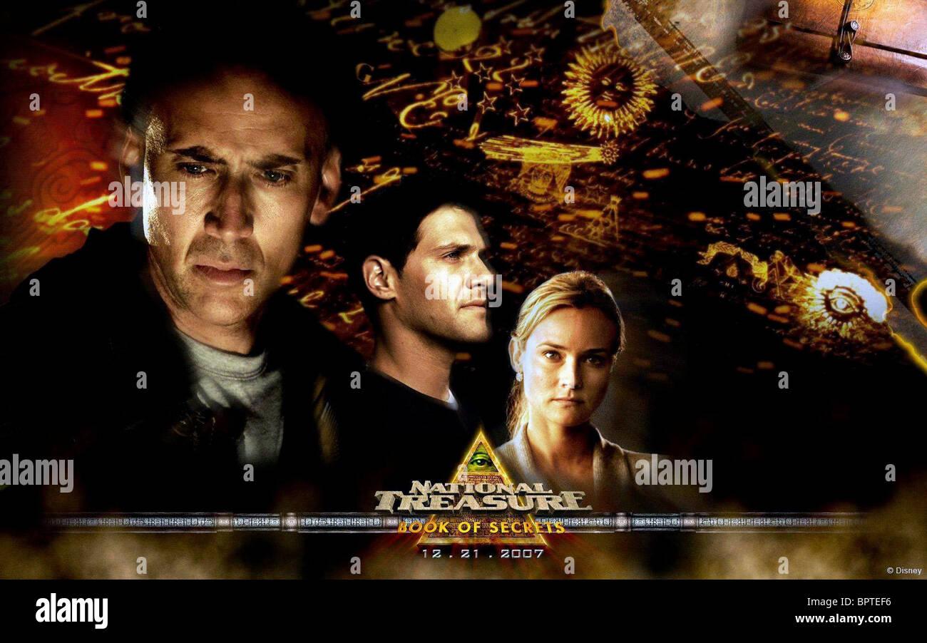 Nicolas Cage Justin Bartha Diane Kruger Poster National Treasure Stock Photo Alamy