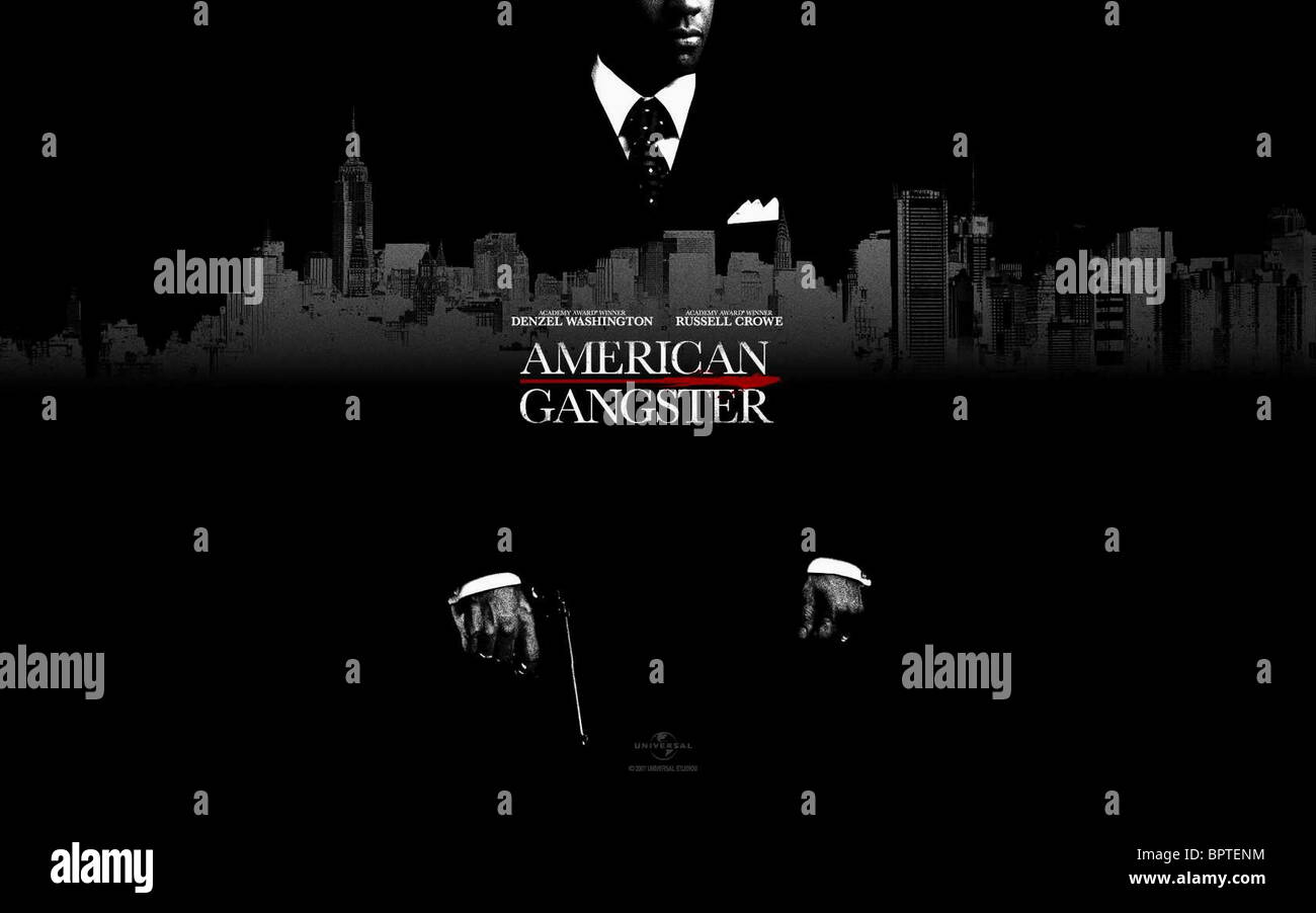 Movie Poster American Gangster 2007 Stock Photo Alamy