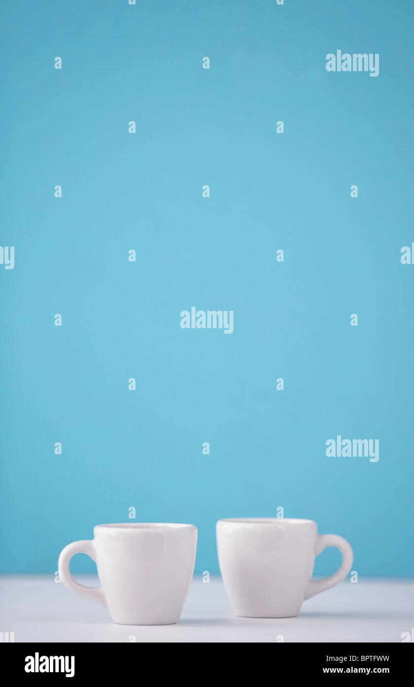 pair of coffee cups - Stock Image