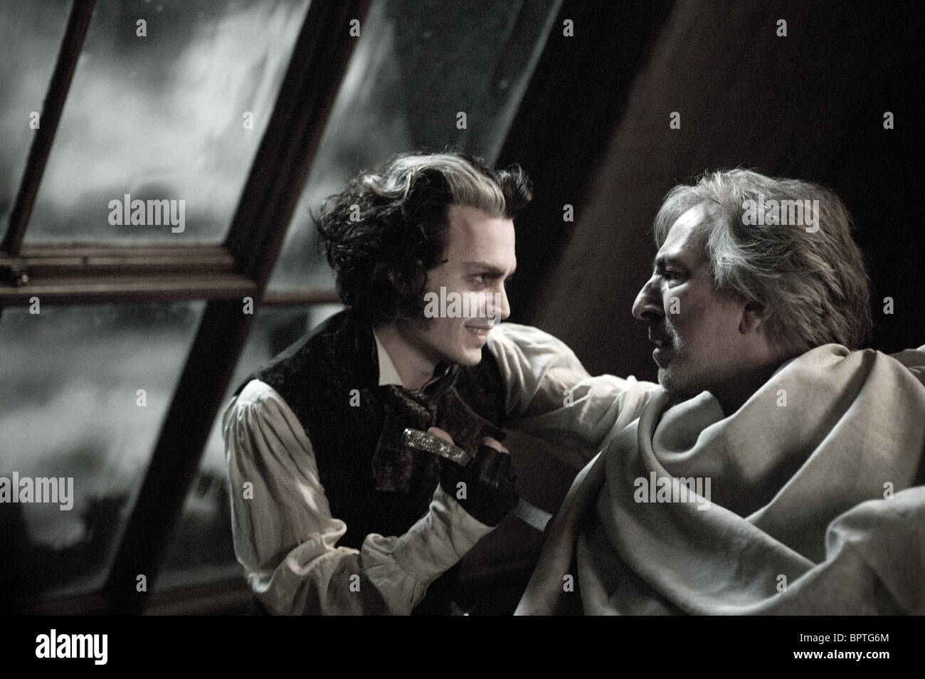 The Demon Barber Johnny Depp Alan Ri Stock Photos The