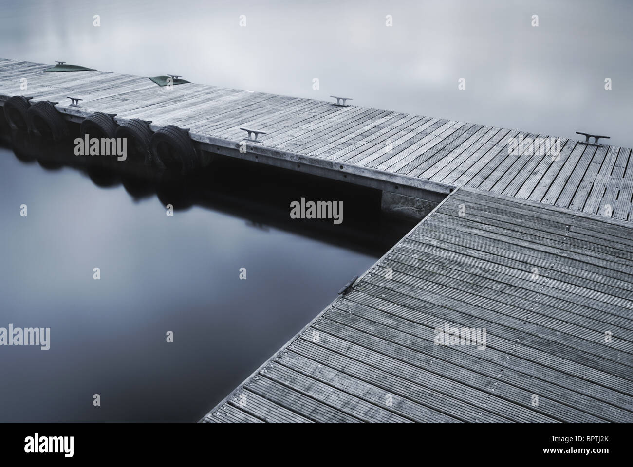 Jetty, Willen Lake,  Milton Keynes - Stock Image