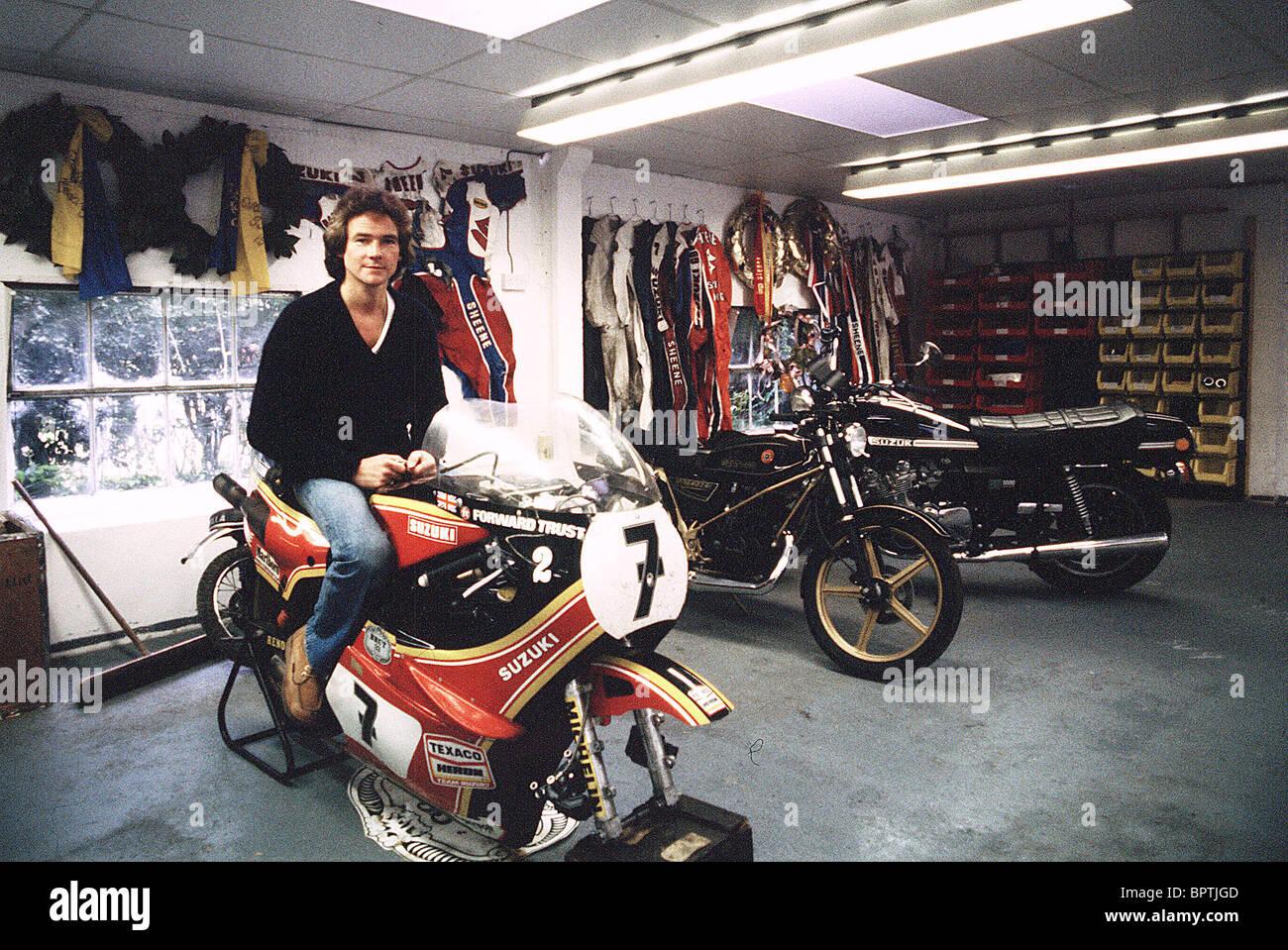 BARRY SHEENE. MOTO RACING (1984) - Stock Image