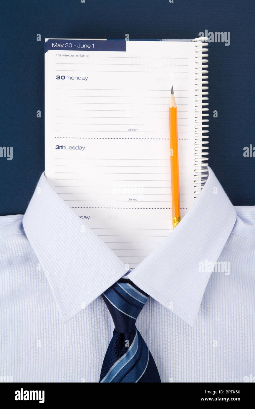 Personal Organizer and shirt, Business Concept - Stock Image